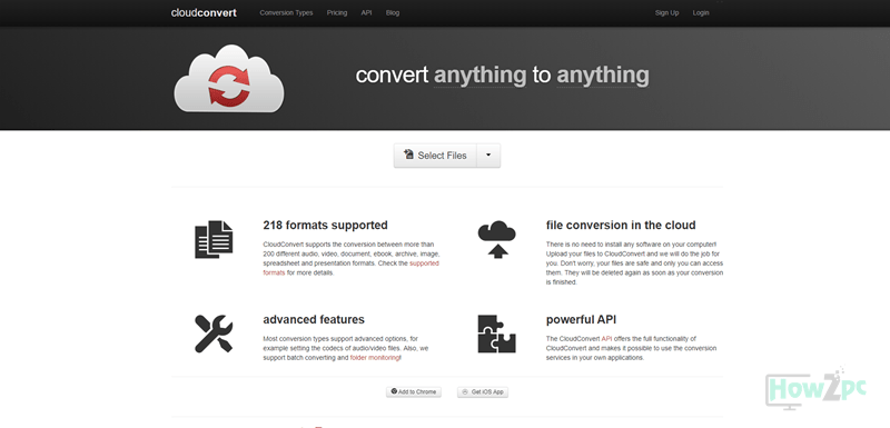 CloudConvert online video converter
