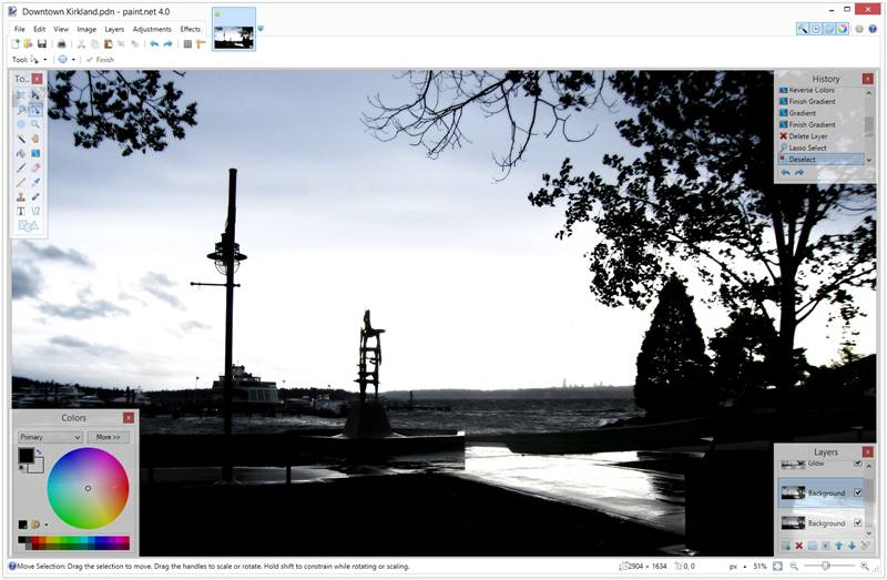 PAINT.NET free photo editing software like photoshop