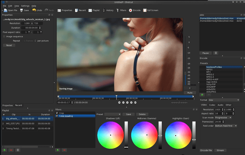 Shotcut video editing software free