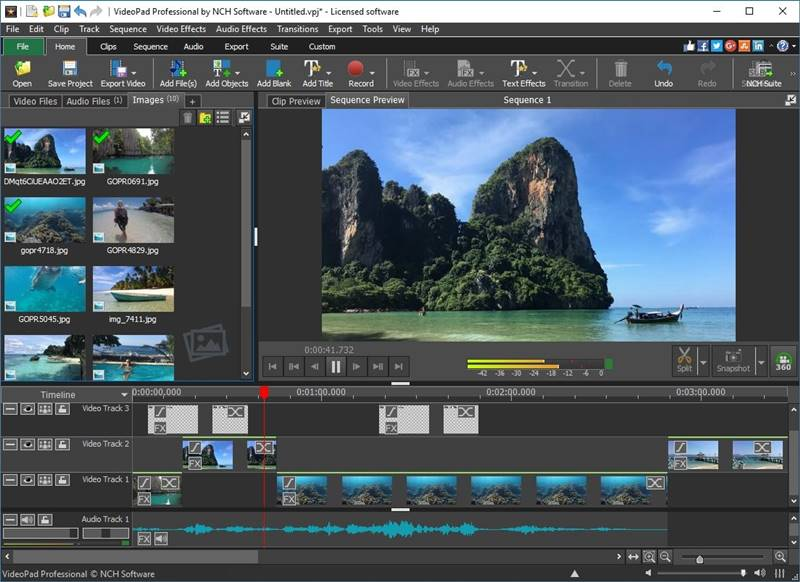 VideoPad Video Editor video editing software free