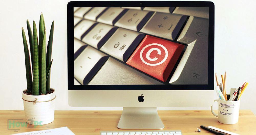 Copyright symbol on Mac 1