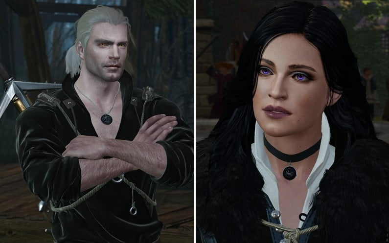 Henry Cavill and Anya Chalotra - Best Witcher 3 Mods