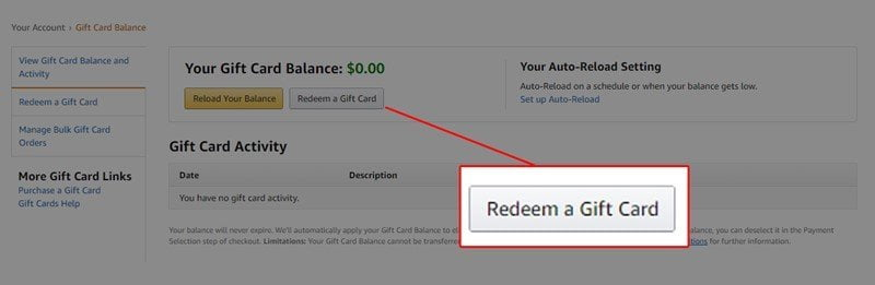 How to Check Amazon Gift Card Balance on desktop 3