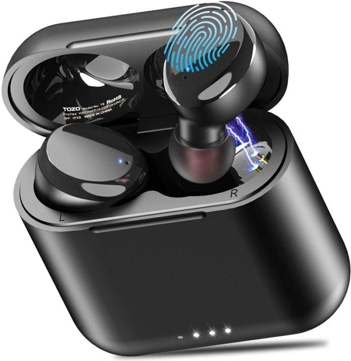 Tozo T6 - The Best Waterproof Wireless Earbuds Under 50