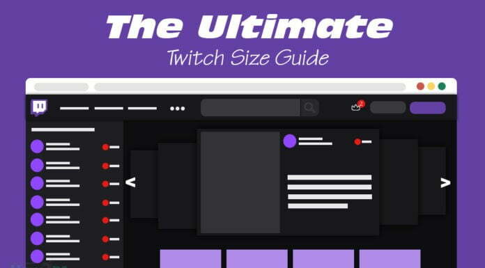 Twitch Size Guide-Banner, Emote, Panel
