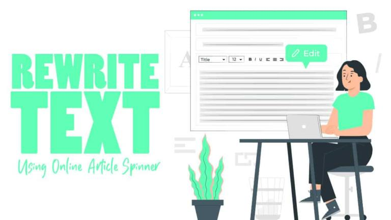 Rewrite Text Using Online Article Spinner