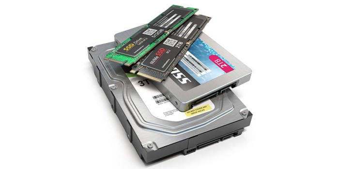 Storage (NVME M2, SSD, and HDD)